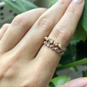 Anna Beck Multi-Stone Stacking Ring Set